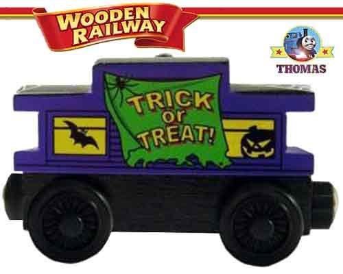 Purple Haunted Halloween Caboose - Thomas Friends Wooden Railway Tank Train Engine - Brand New Loose