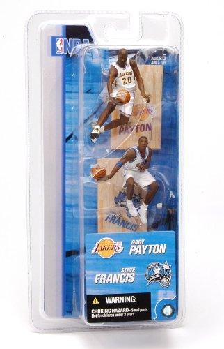 GARY PAYTON  LOS ANGELES LAKERS STEVE FRANCIS  ORLANDO MAGIC  3 INCH  McFarlanes NBA Sports Picks Series 2 Mini Figure 2-Pack