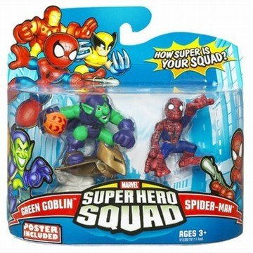 Disney Super Hero Squad -- Spider-Man and Green Goblin Action Figures