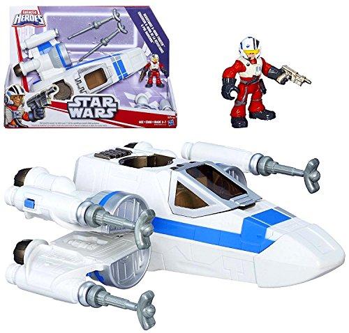 Playskool Star Wars Galactic Heroes Resistance X-Wing Fighter with Poe Dameron