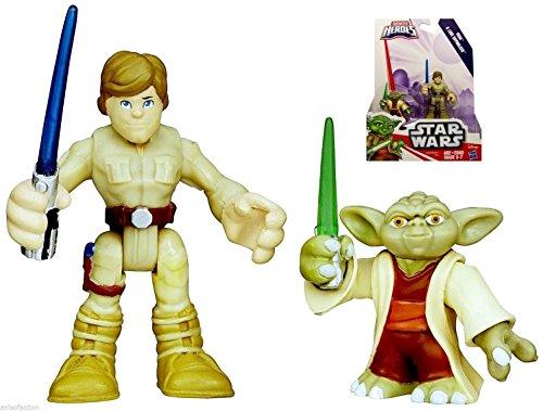 Star Wars Playskool Galactic Heroes Yoda Luke Figures NIP 2015