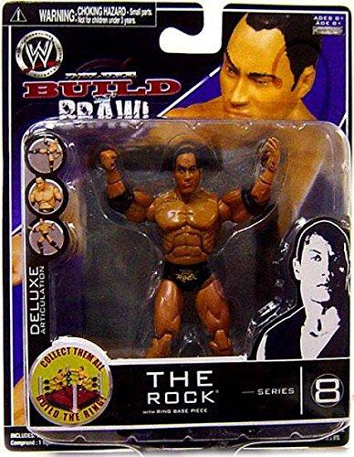 Jakks Pacific WWE Wrestling Build N Brawl Series 8 The Rock Action Figure