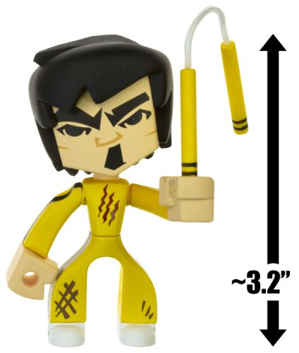 Bruce Lee from Game of Death Suit w Nunchucks ~32 Mini Action Figure Bruce Lee Temple of Kung Fu Series 1