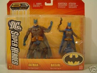 Batman Batgirl Mattel Dc Super Heroes Action Figure Set