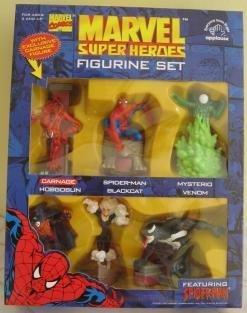 1997 Marvel Super Heroes Figurine Set Featuring Spiderman