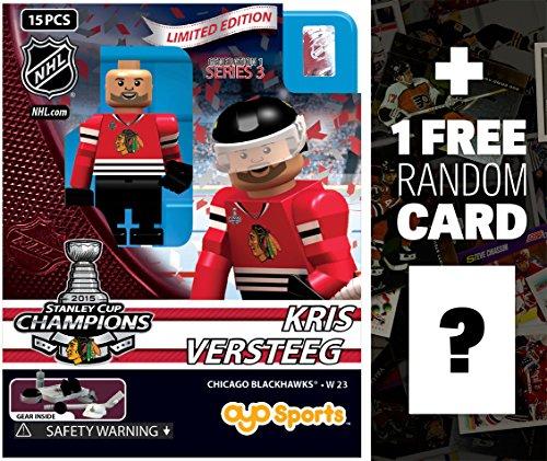 Kris Versteeg - Chicago Blackhawks 2015 Stanley Cup Champions NHL x OYO Sportstoys Minifigure Series  1 FREE Official NHL Trading Card Bundle