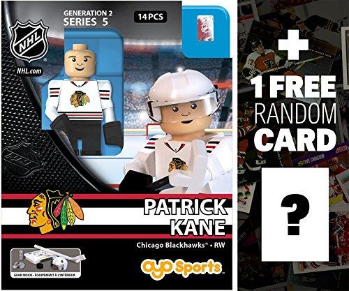 Patrick Kane - Chicago Blackhawks NHL x OYO Sportstoys Minifigure Series  1 FREE Official NHL Trading Card Bundle