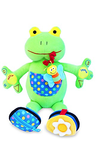 My PAL Jumper the Frog Activity Toy - Best Educational Toy for Babies and Toddlers 9 Mos To 3 Yrs - The Safe Cuddly and Fun Way to Help Your Child Learn