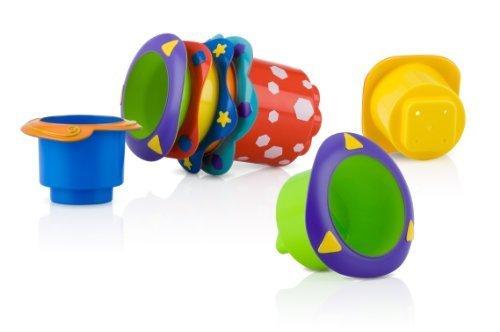 Play&Game Nuby 5 Count Splish Splash Stacking Bath Cups ToyGamePlay Child