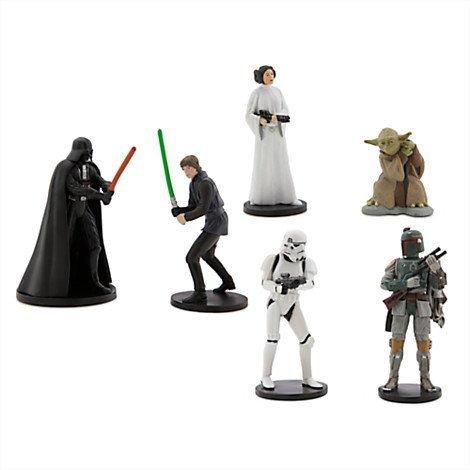 Star Wars Figure Playset - Includes - Darth Vader Luke Skywalker Princess Leia Yoda Boba Fett and Stormtrooper