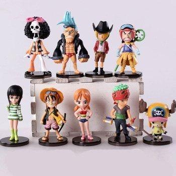 9pcslot 6-9cm Anime One Piece Mini Action Figures the Straw Hats Luffyroronoazorosanjichopper Figure Toys