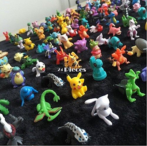 HOT Pokemon Mini Action Figures 24 Pcs Set Pokemon Monster Toys Set 1 2-3cm