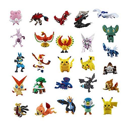 JIAHUI Pokemon Pikachu Monster Mini Action Figures Toy Lot of 24 Piece1