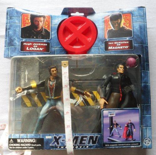 X-MEN THE MOVIE WOLVERINE LOGAN VS MAGNETO ACTION FIGURE 2 PACK