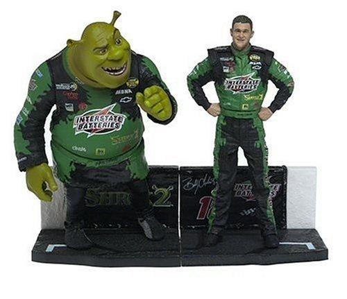 Nascar Shrek Figure 2-Pack Bobby Labonte and Shrek by T M P Intl