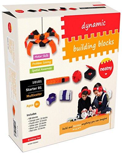 Wearable Building Blocks  STEM Toy  neatoy Starter Set 10101 100 Blocks