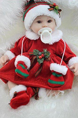 Npkdoll Reborn Baby Doll Soft Silicone 18inch 45cm Magnetic Lovely Lifelike Cute Boy Girl Toy Santa Baby Eyes Open