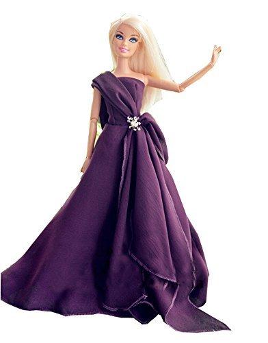 Barbie doll makeover clothing  polka dots kimono  noble Doll costume  embroidery dress dress  doll wedding dress  skirt 115 inch purple
