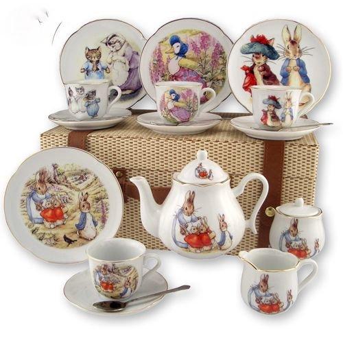 Reutter Porcelain Beatirx Potter Childrens Kids Tea Set in Case