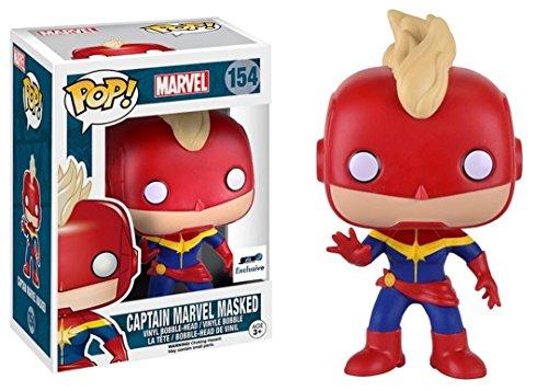 Funko Pop Vinyl Captain Marvel Masked Exclusive Bobblehead Figure 154