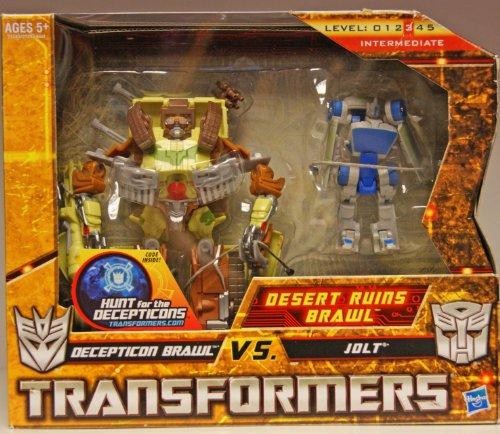 Transformers Hunt for the Decepticons Exclusive Deluxe Action Figure 2Pack Desert Ruins Brawl Decepticon Brawl vs Jolt