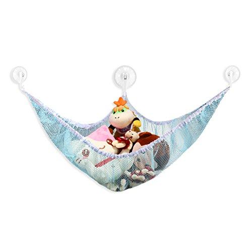 Giveme5 Stuffed Plush Animal Toy Organizer Hammock Storage Pet Net Mesh in Kids Room 70x47x47 Sky blue