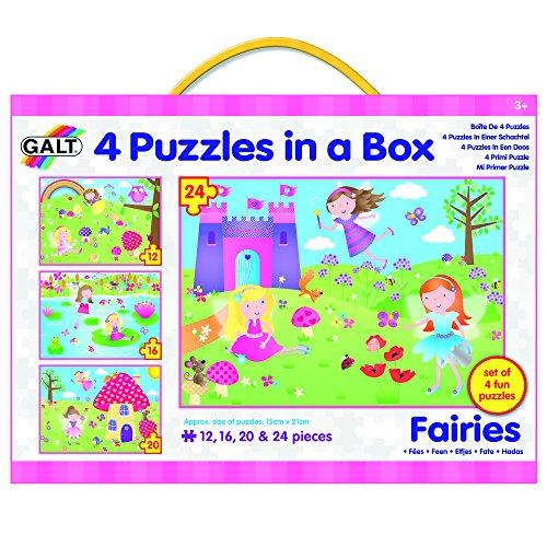 Galt Toys Four Fairies Puzzles in a Box 72 Piece