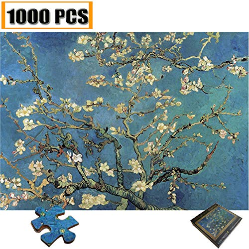 Jigsaw Puzzles 1000 Pieces Vincent Van Gogh Artwork Art for Teen Adult Grown Up Puzzles Large Size Toy Educational Games Gift Jigsaw Puzzle Jigsaw Puzzle 1000 PCS Apricot flower Monet