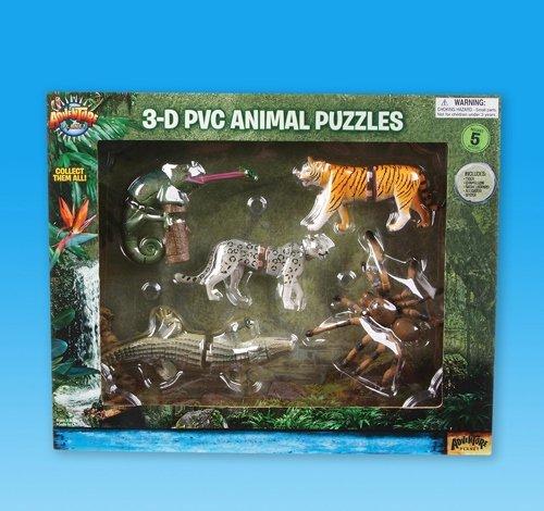 5 PC 3D JUNGLE PUZZLE SET Case of 24