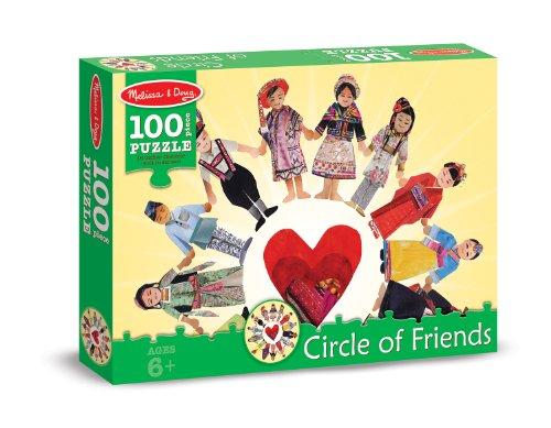 Melissa Doug Circle of Friends International Cultures and Kids Jigsaw Puzzle 100 pcs