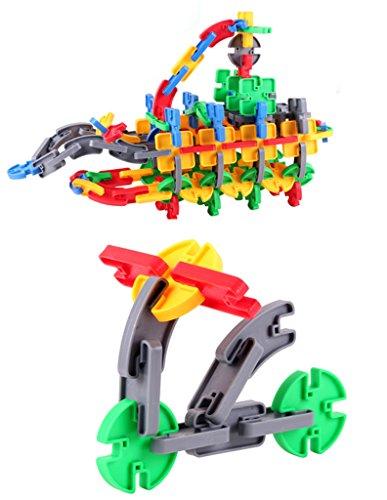 JingQ JQ1016 Plastic Creative Blocks Construction Assembling Toy DIY Puzzle Block Set Educational Jigsaw for Baby Children Kids