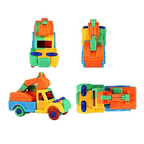 Lanlan 32 Pcs Green Plastic DIY 3D Puzzle Brain Teaser Puzzles Jigsaw Puzzles Activity Centers Baby Toddler Grown-Up Toys Building Blocks Set Mini Excavator