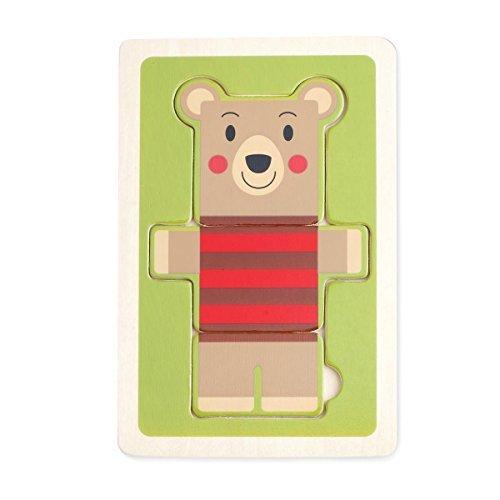 DEMDACO 3 Piece Puzzle Bjorn Bear by Demdaco