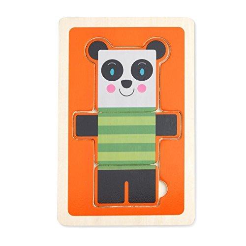 DEMDACO 3 Piece Puzzle Stan Panda Bear by Demdaco