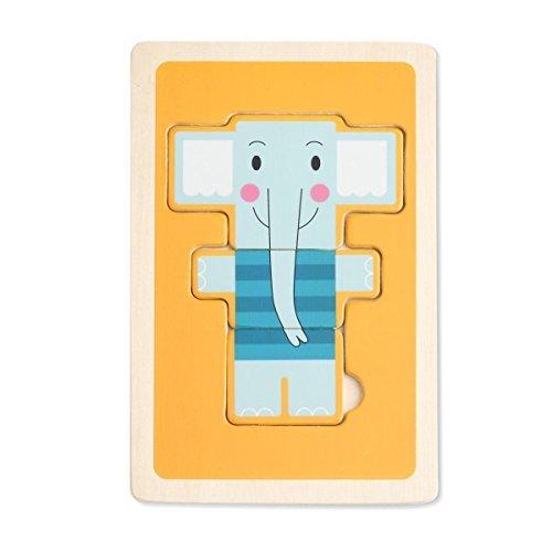 DEMDACO 3 Piece Puzzle Tucker Elephant by Demdaco
