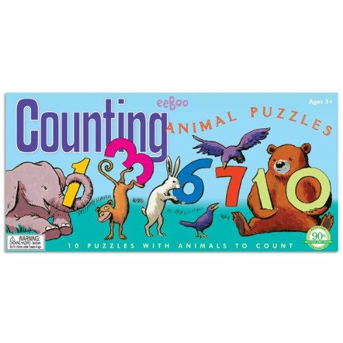 eeBoo Counting Animal 3 Piece Puzzle