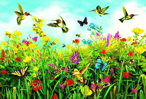 Hummingbird Fields - A 550 Piece Jigsaw Puzzle By Sunsout