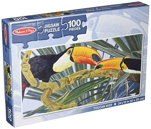 Melissa Doug Toucan Kiss Birds on Branches Jigsaw Puzzle 100 pcs
