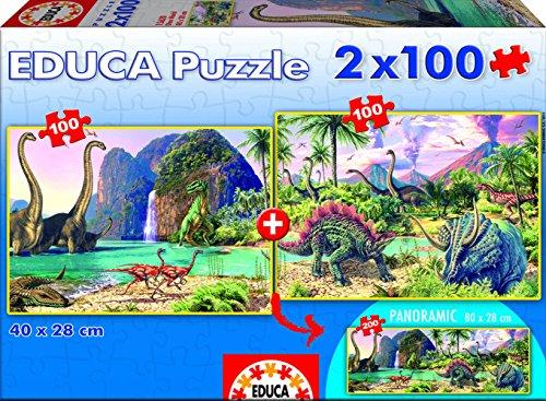 Educa Borras Dino World Puzzle 2x100 Pieces