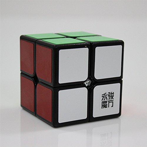 GoodPlay Newest Yongjun YJ Yupo sticker Speed Cube Puzzle 2x2x2 Smooth Black Puzzleone Cube bag
