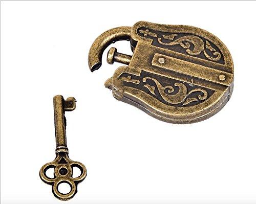 OliaDesign Ancient Lock Cast Metal Brain Teaser Puzzle 2 Piece