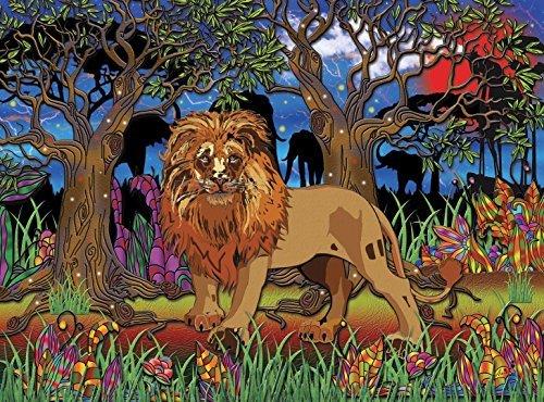 JaCaRou Puzzles Lions Heart 1000 Pieces Jigsaw Puzzle