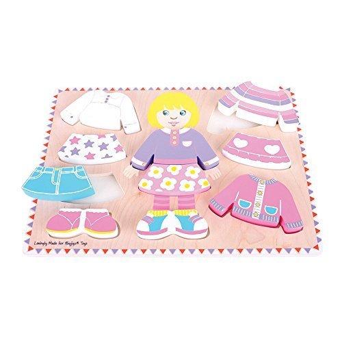 Bigjigs Toys BB057 Dressing Girl Puzzle by Bigjigs Toys