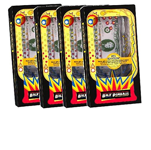 Set of 4 Retro Pinball Money Machine Puzzles - Fun Challenging Gift Holder