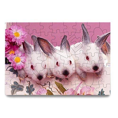 ECO Lovely Rabbit Puzzle 72 Pieces DIY Puzzle Color Lovely rabbit Model A48