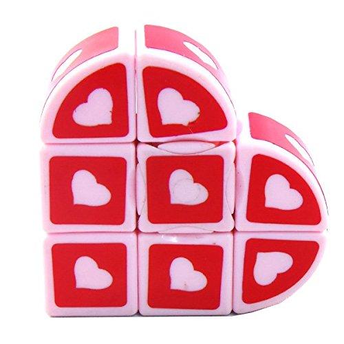 3x3x1 Heart Super Floppy Cuboid Red Puzzle Cube Twisty Toy 1x3x3