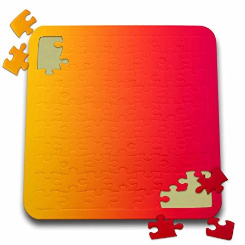 Florene - Designer Gradient Colors - Print of Gradient Orange Into Red - 10x10 Inch Puzzle pzl_212595_2