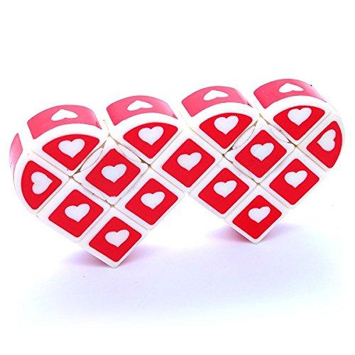 Siamese 3x3x1 Heart Super Floppy Cuboid Red Puzzle Cube Twisty Toy 1x3x3