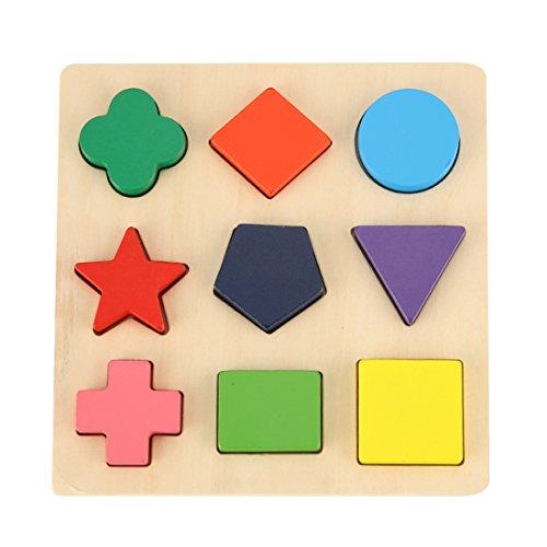 GYBBER&MUMU Wooden Preschool Shape Puzzle