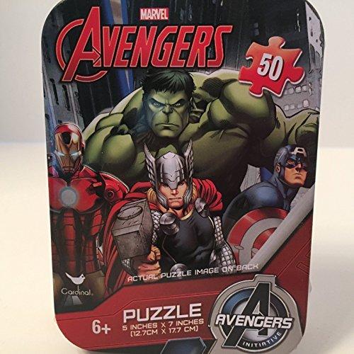 Marvel Avengers 50 Piece Puzzle in Travel Tin Thor Captain America Iron Man Hulk